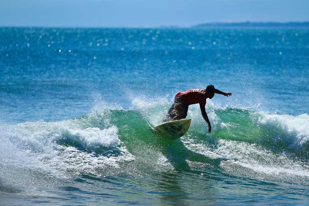 Surfing at Petitenget Beach Bali
