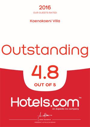 KoenoKoeni Villa Seminyak Bali Hotels.com Awards